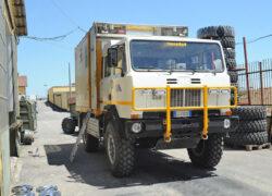 truck4x4 Adventure Iveco ACM 90 Raffaello-Torino in officina2