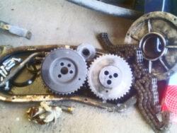 WM 90 montaggio nuove componenti motore in officina